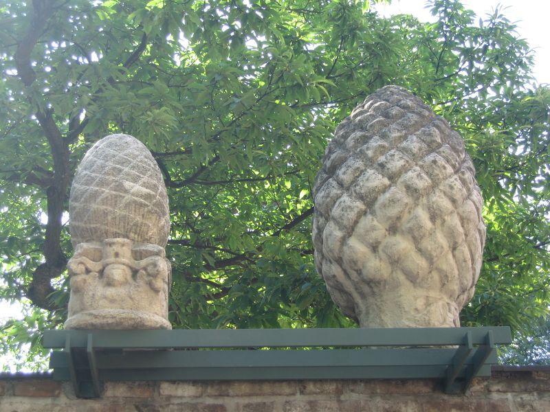 Ancient Roman pine cones - Augsburg