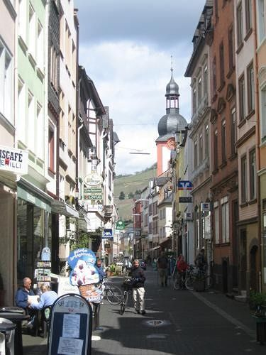 Zell, pedestrian area in the main street - Zell