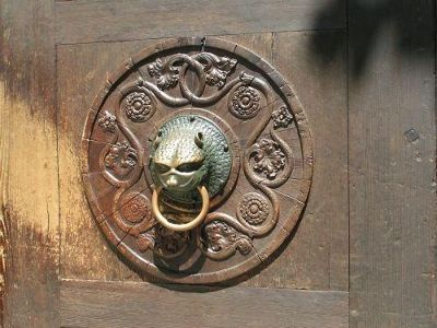 Door knocker at the Dome church - Augsburg