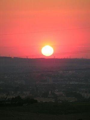 Sunset over Chemnitz, seen from Adelsberg - Chemnitz