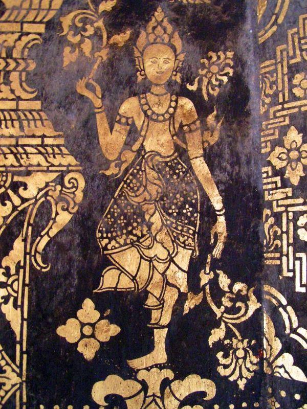 Temple detail - Luang Prabang