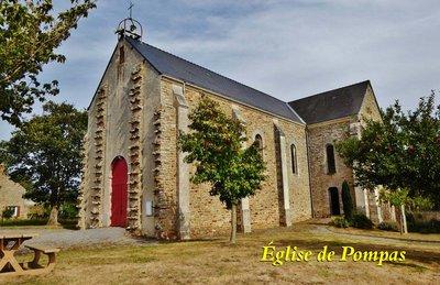 Eglise de Pompas near our Gite