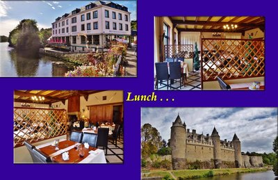Lunch in Josselin on the Canal