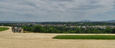 Distant Paris from the gardens of Château de Saint-Germain-en-Laye