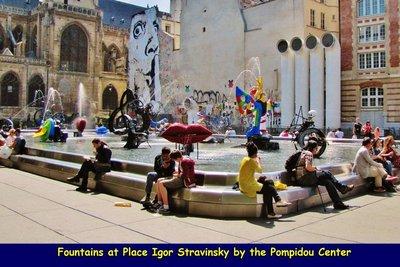 The Stravinsky Fountain at Place Igor Stravinsky