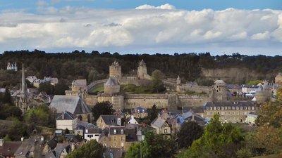 Château de Fougères from the Public Garden