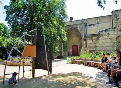 Play Area at the Cluny Museum Medieval Gardens
