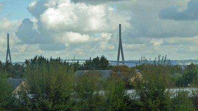 The Pont de Normandie to Le Havre