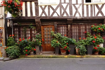 Half-timbered house in Honfleur