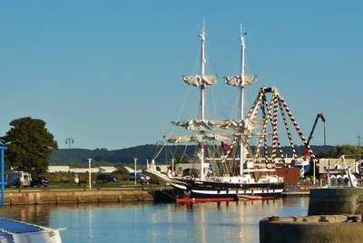 Tall Ship in Honfleur for a visit