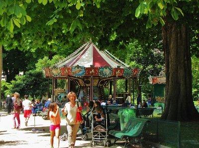 Carousel in Parc Monceau in Paris