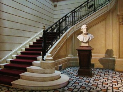 """Stairs to the """"first"""" floor in the Cernuschi Museum in Paris"""