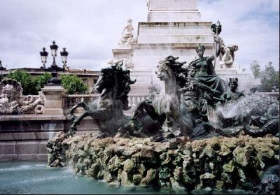 Fountain of the Girondins in Bordeaux