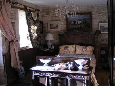 The downstairs bedroom (one end of L-shaped room) - Cauvicourt