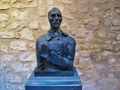 Sculpture of Van Gogh by Zadkine in the Musée des Alpilles