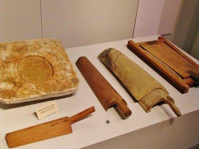 Tile making display in the Musée des Alpilles