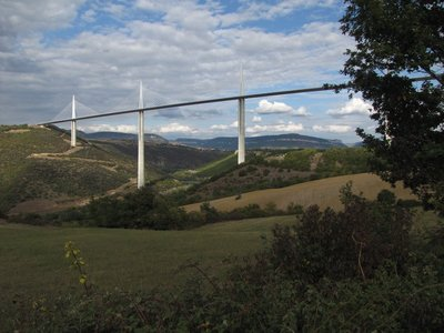 The Viaduc de Millau from a nearby highway