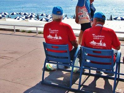 Volunteers for the Nice Triathlon
