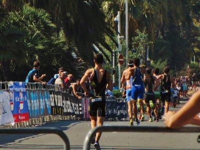 Nice Triathlon runners passing us