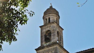 Bell tower of Eglise St. Peter in Mollégès