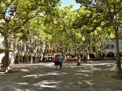 Place aux Herbes in Uzès