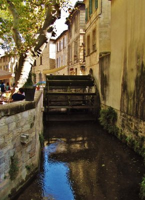 One of many water wheels in Avignon