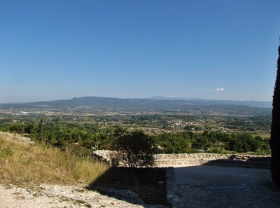 View of Mt. Ventoux from Eglise Notre Dame d'Alidon