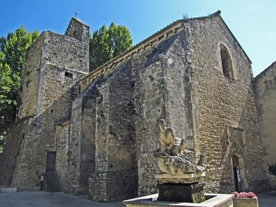 St. Mary and St. Veran Church in Fontaine-de-Vaucluse