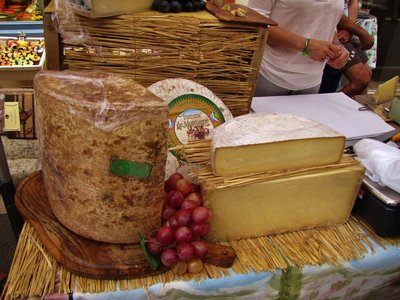 Cheese display at the Saint-Remy-de-Provence Market