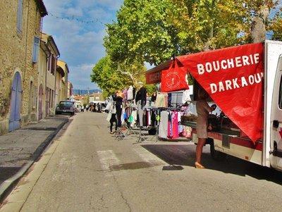 Market in La Roque d'Antheron