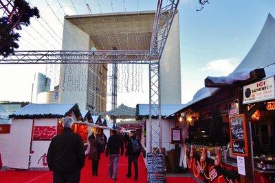 Christmas Chalets under the Grande Arche de la Défense