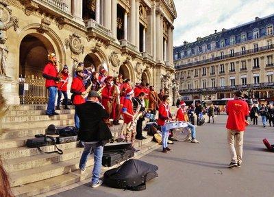 Interesting band at the Garnier Opera in Paris
