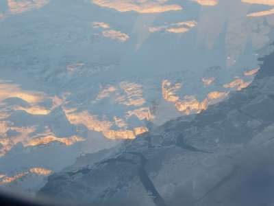 Clear skies over Greenland