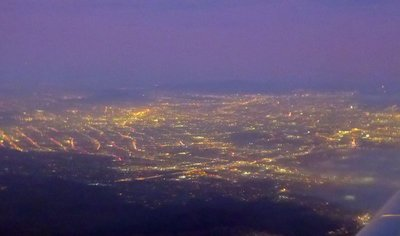 Flying out of Los Angeles at night - beautiful lights