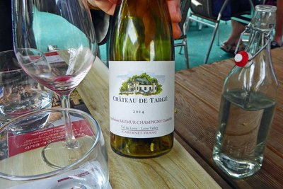 Wine at La Ferme Restaurant in Angers