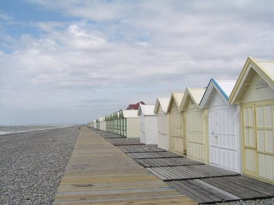 Bathing houses at Cayeux-sur-Mer