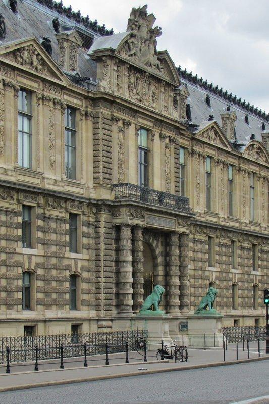 Porte des Lions at the Louvre