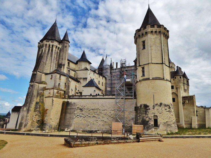 Château de Saumur with sunshine