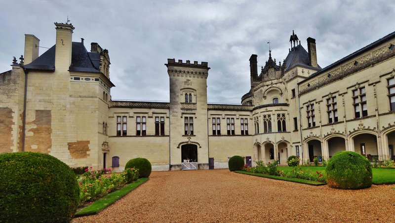Château de Brézé, two photos combined