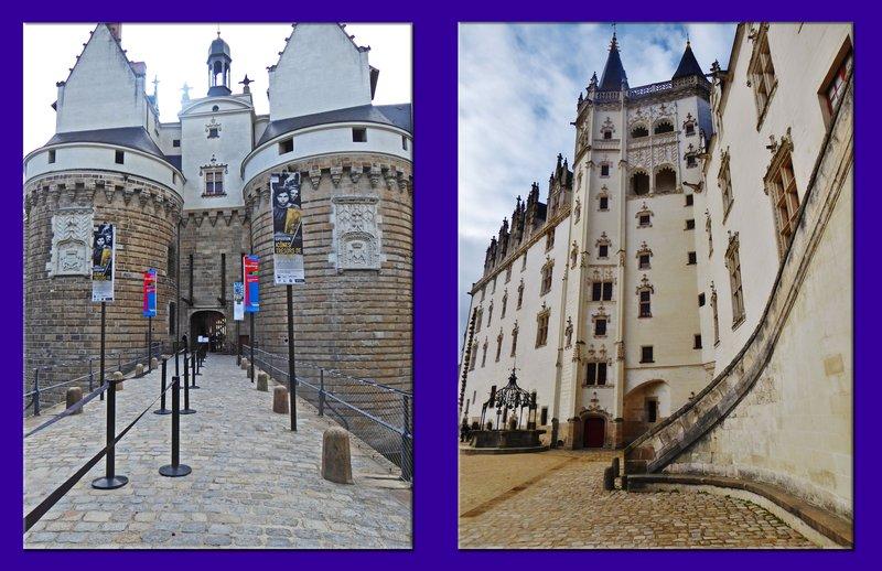 Château des ducs de Bretagne in Nantes, two photos