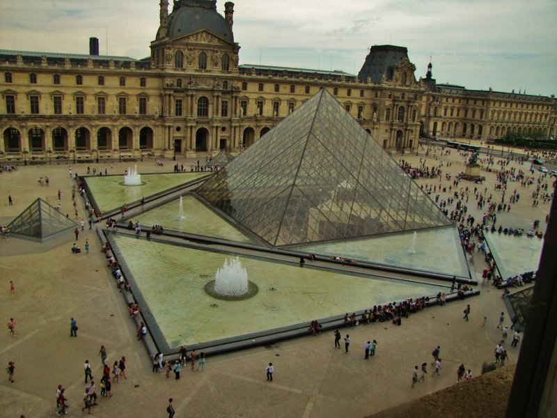 View of the Pei Pyramid from Inside the Louvre