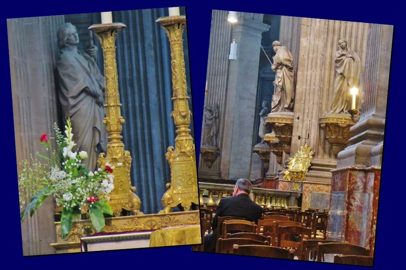 Two photos of the interior of Saint Sulpice