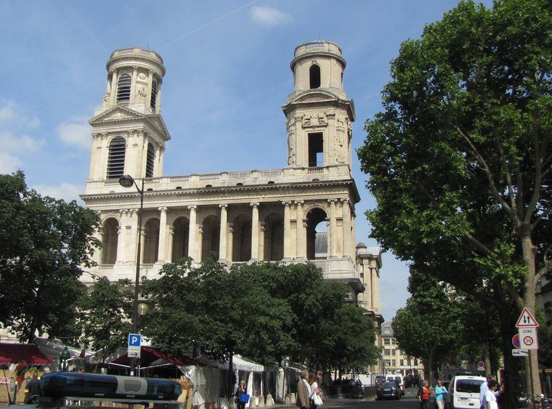 Eglise Saint Sulpice and the Poesie Market