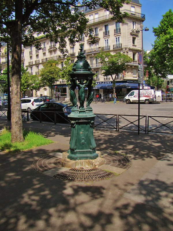 One of the Wallace Fountains designed by Charles-Auguste Lebourg
