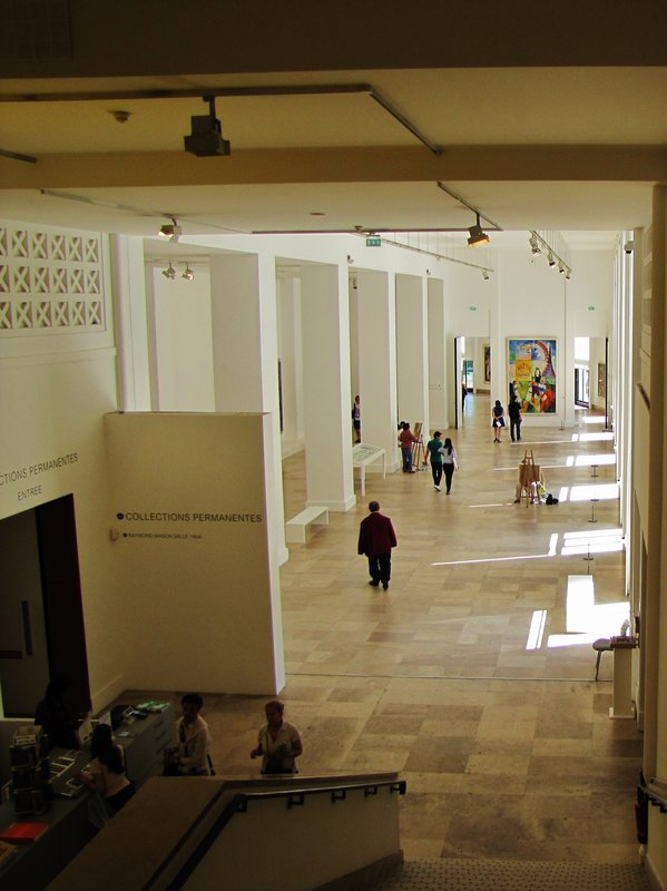 Hallway to the Permanent Collections of the Museum of Modern Art in Paris