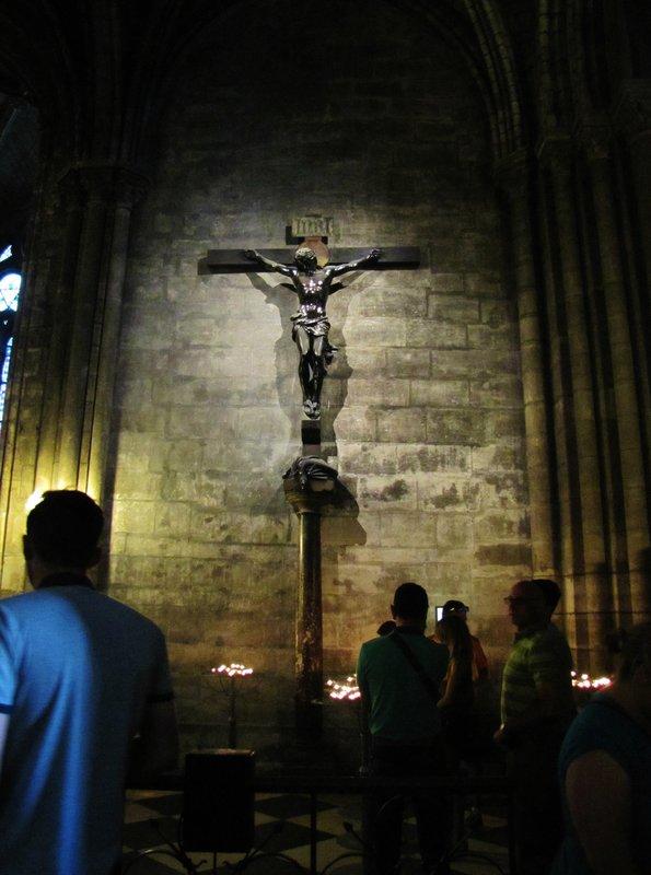Crucifix in Notre Dame de Paris