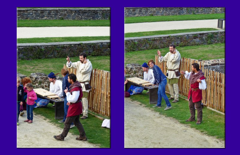 Story-tellers at the Château de Fougères