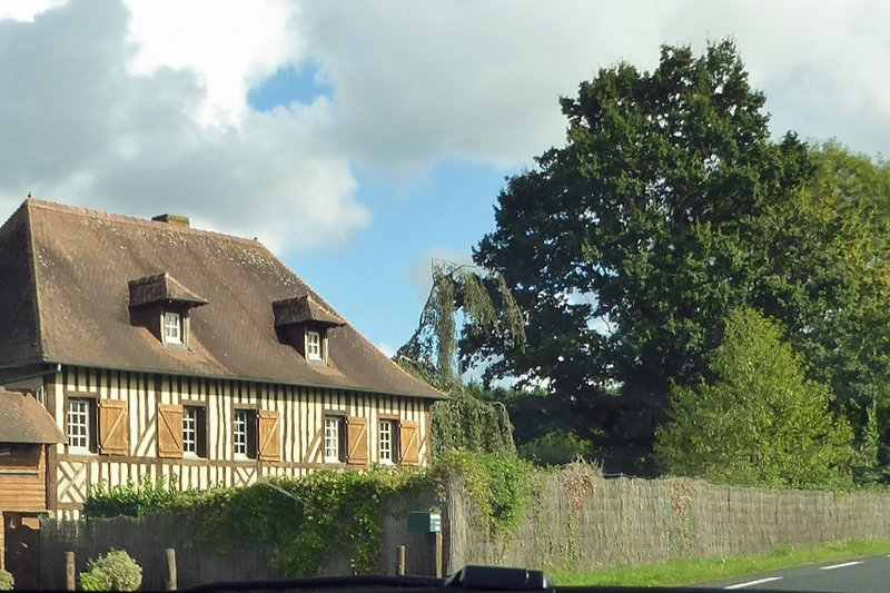 Typical Norman house near Cresseveuille on the A13