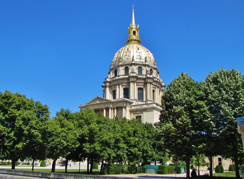 Dome of Invalides from  ave. de Tourville