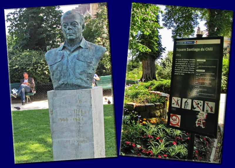 Bust of Antoine de Saint-Exupéry in Square Santiago du Chili